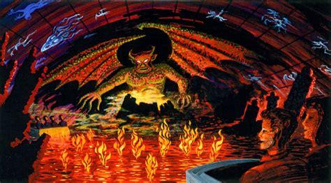 Night on Bald Mountain scene with Chernabog and flames ...