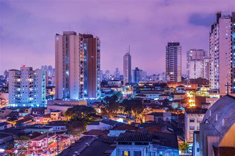 Night time Cityscape of Sao Paulo, Brazil image   Free ...