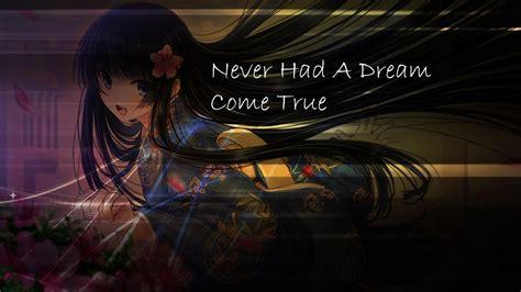 Nightcore   Never Had a Dream Come True  +Lyrics    YouTube