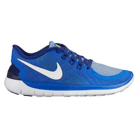 Nike Boys Free 5.0 Running Shoes   Blue   Tennisnuts.com