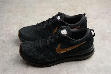 Nike Flyknit Air Max Black Gold Men s Running Shoes 845615 ...
