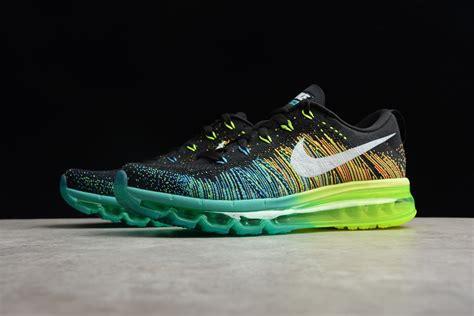 Nike Flyknit Air Max Black/Turbo Green Volt Men's Running ...