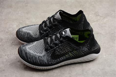 Nike Free Run Flyknit 2018 White/Black Men s Running Shoes ...