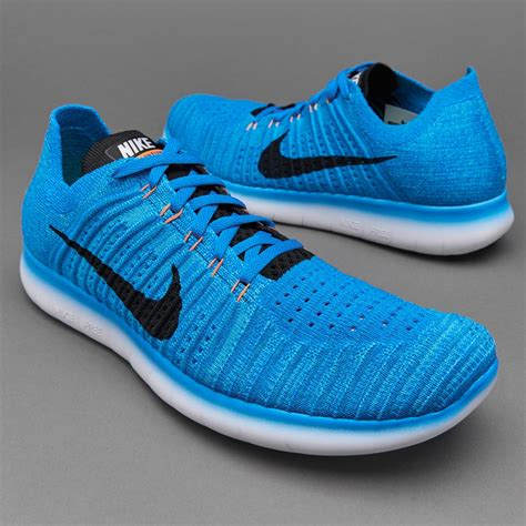 Nike Free Run Flyknit   Mens Shoes   Photo Blue/Blk Gamma ...
