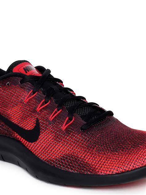 Nike Men Red & Black Flex 2018 Running Shoes » FOOTWEAR PRICE
