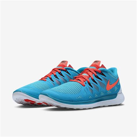 Nike Mens Free 5.0+ Running Shoes   Blue Lagoon/Bright ...