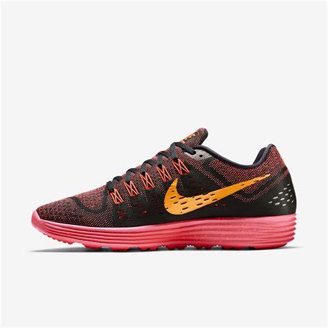 Nike Mens LunarTempo Running Shoes   Black/Bright Crimson ...