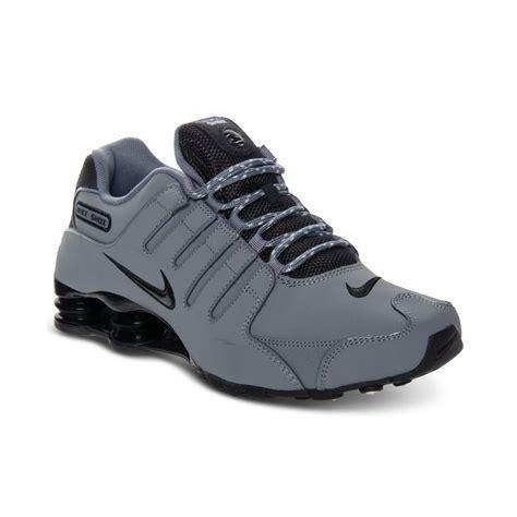 Nike Mens Shox Nz Eu Running Sneakers in Gray for Men | Lyst