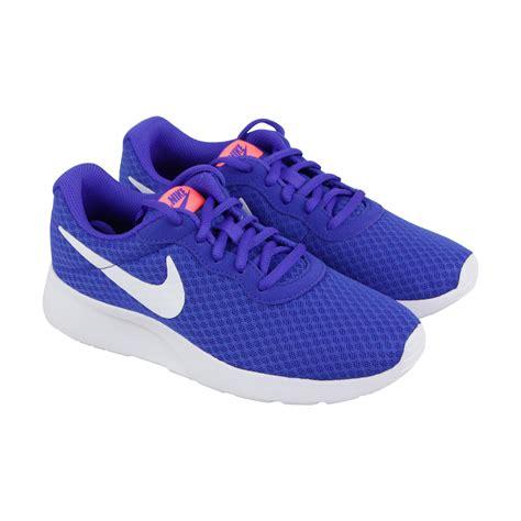 Nike   Nike Tanjun Womens Blue Mesh Athletic Lace Up ...
