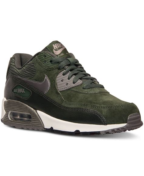 Nike Women s Air Max 90 Leather Running Sneakers From ...
