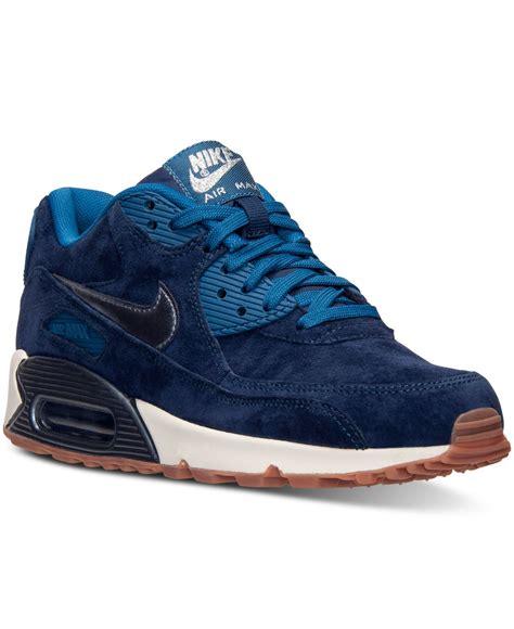 Nike Women s Air Max 90 Premium Suede Running Sneakers ...