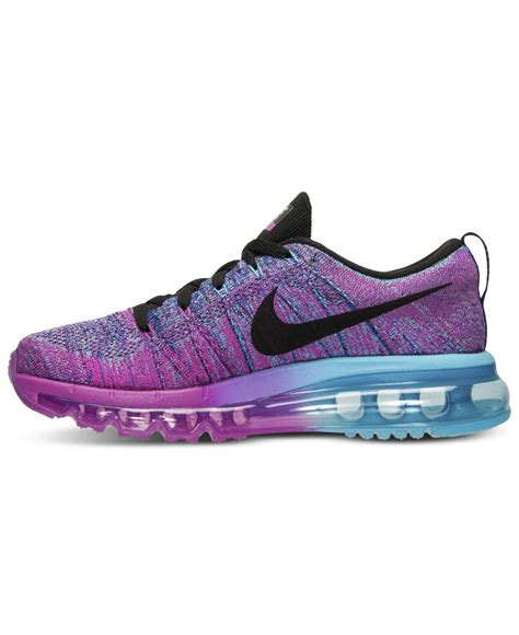 Nike Women S Flyknit Air Max Running Sneakers From Finish ...