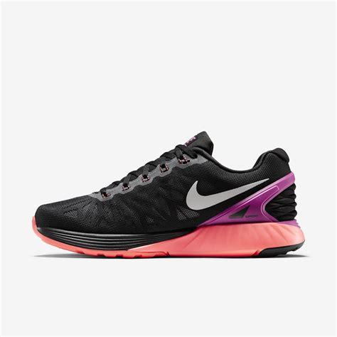Nike Womens LunarGlide 6 Running Shoes   Black/Fuchsia ...