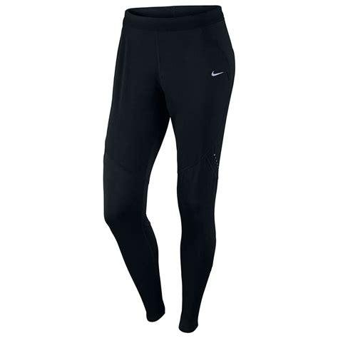 Nike Women's Shield Running Joggers Pants Leggings Black