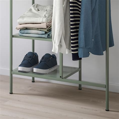 NIKKEBY Burro para ropa   verde grisáceo   IKEA