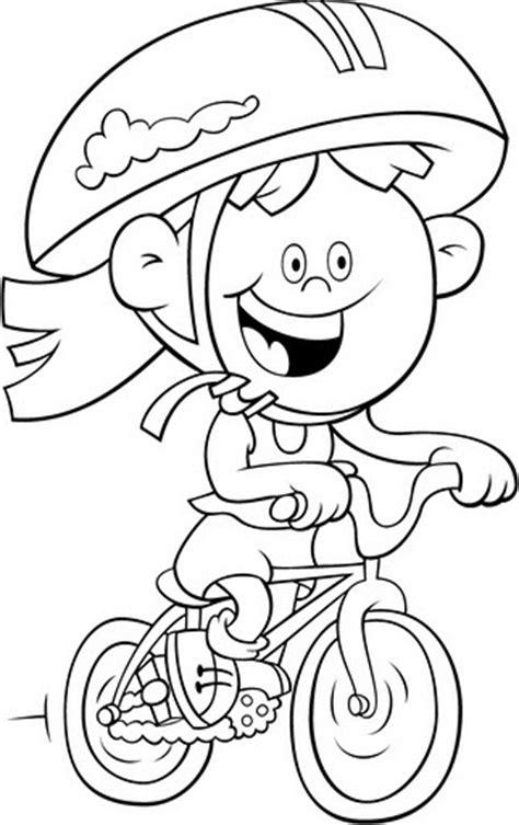 Niña en Bicicleta para colorear   Dibujo Views