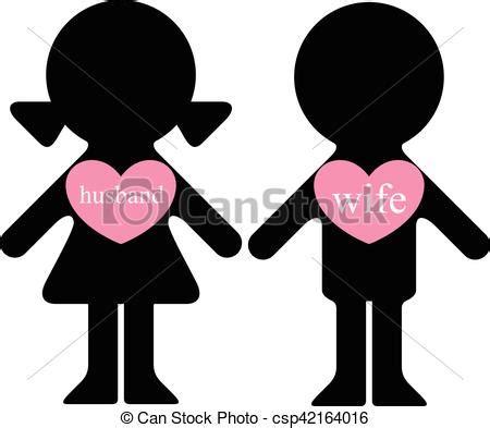 Niño y niña con amantes en el corazón. Vector chico y ...
