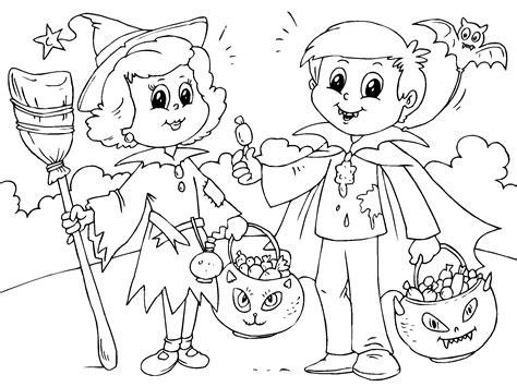Ninos en halloween para imprimir   ParaCOLOREAR.net