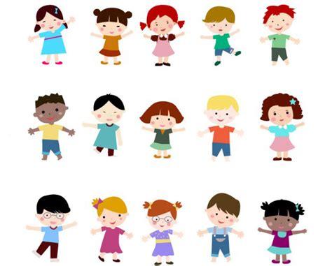 Niños en Vectores con Estilo Plano | Jumabu | Muchos ...