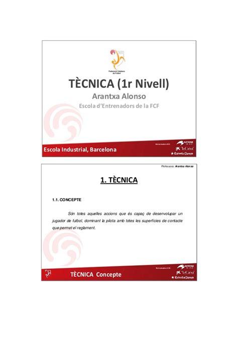 Nivell I. Tècnica