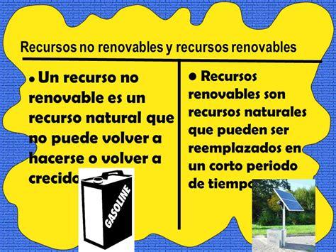 No Renovables frente Recursos Renovables   ppt descargar
