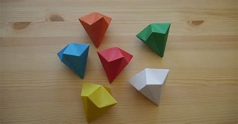 ¡No tengo tele! / Origami. Cómo hacer un diamante en papel ...