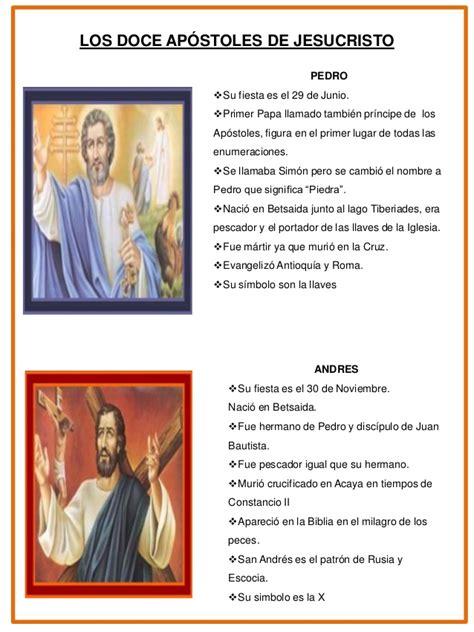 Nombre De Los 12 Apostoles Con Imagen   change comin