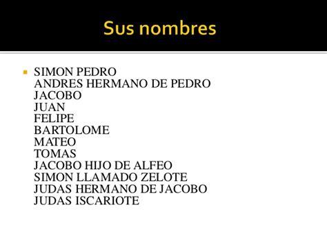 Nombre De Los Doce Apostoles Para Niños   Noticias Niños
