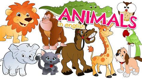Nombres de los ANIMALES EN INGLÉS para niños   Vocabulario ...