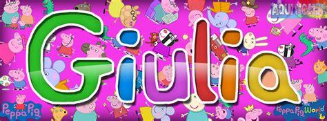 Nome Customizado Giulia   Peppa Pig