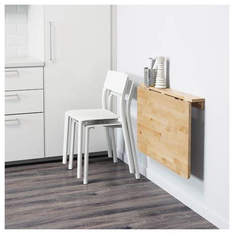 NORBO Mesa plegable de pared   abedul   IKEA