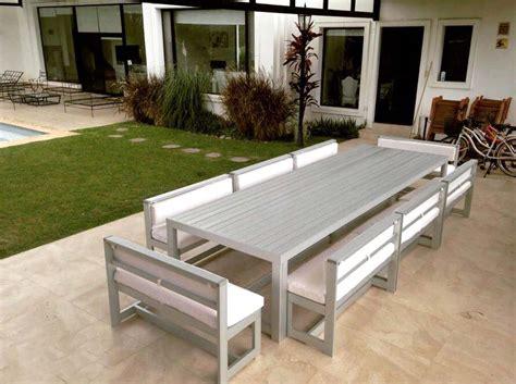 Nordeco, muebles para exterior de aluminio anodizado