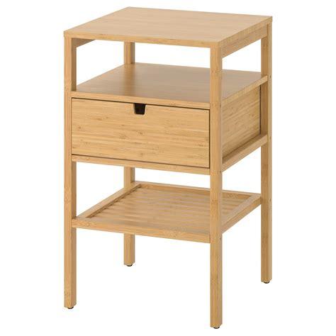 NORDKISA Mesita de noche, bambú, 40x40 cm   IKEA