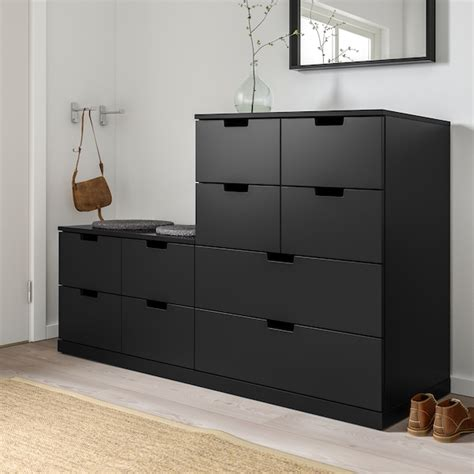 NORDLI anthracite, Chest of 10 drawers, 160x99 cm   IKEA
