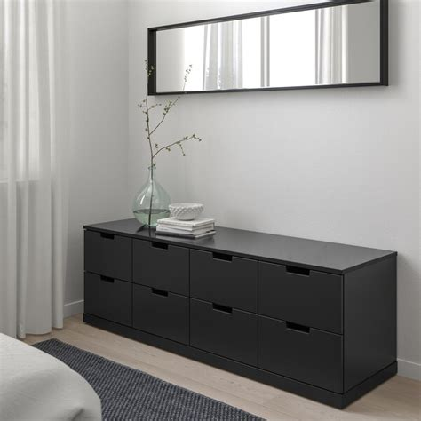 NORDLI anthracite, Chest of 8 drawers, 160x54 cm   IKEA