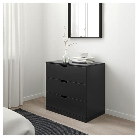 NORDLI Chest of 3 drawers Anthracite 80 x 76 cm   IKEA