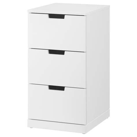 NORDLI chest of 3 drawers, White | IKEA Greece