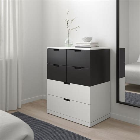 NORDLI Chest of 6 drawers, white, anthracite, 80x99 cm   IKEA