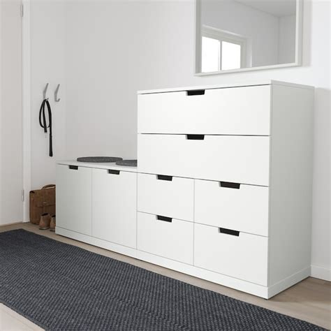 NORDLI Chest of 8 drawers, white, 160x99 cm   Find it here ...