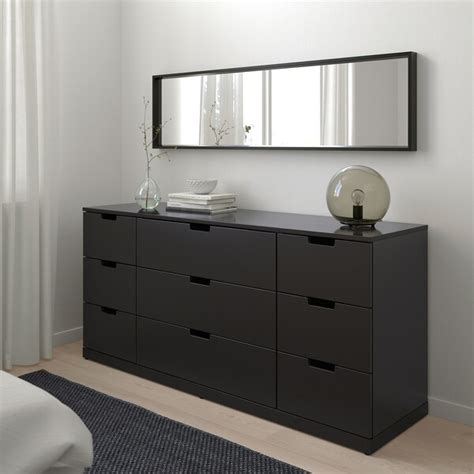 NORDLI Chest of 9 drawers, anthracite, 160x76 cm   IKEA
