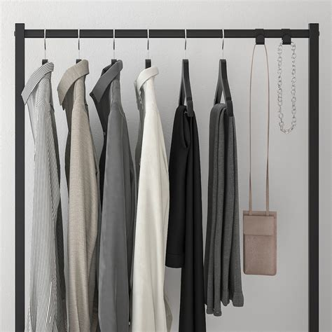 NORDLI Extensión de barra de ropa, carbón, 80x115 cm   IKEA