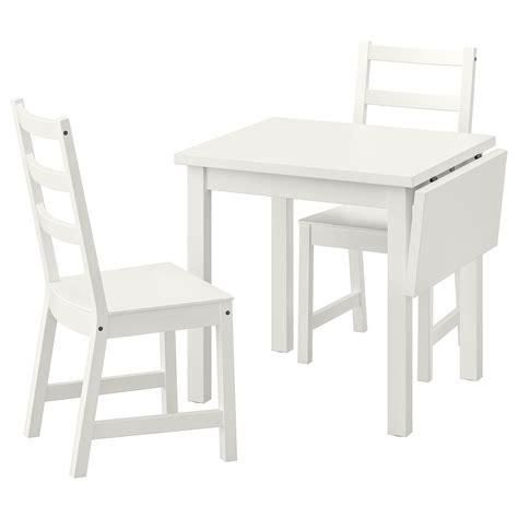 NORDVIKEN / NORDVIKEN Mesa y dos sillas, blanco, blanco   IKEA