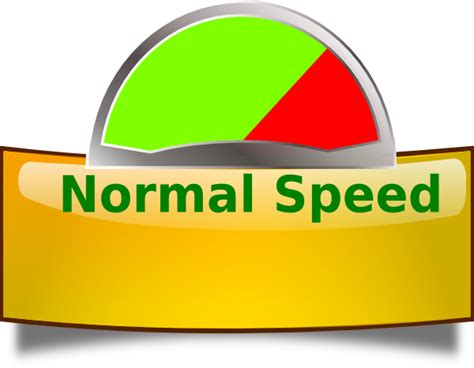Normal Speed Green Clip Art at Clker.com   vector clip art ...