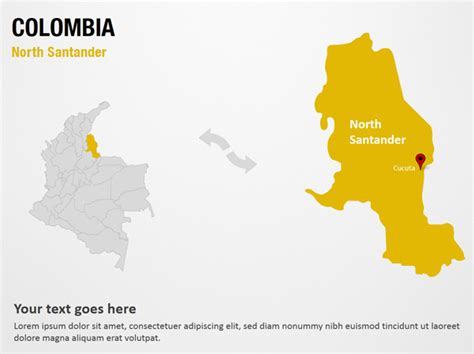 North Santander   Colombia PowerPoint Map Slides   North ...