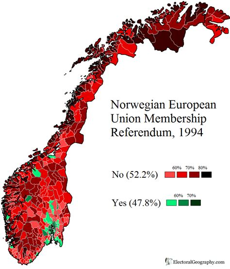 Norway. EU Referendum 1994 | Electoral Geography 2.0