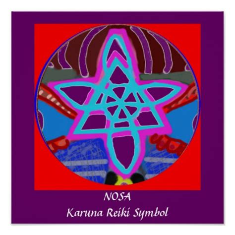 NOSA  Karuna Reiki Healing Symbol Print | Zazzle