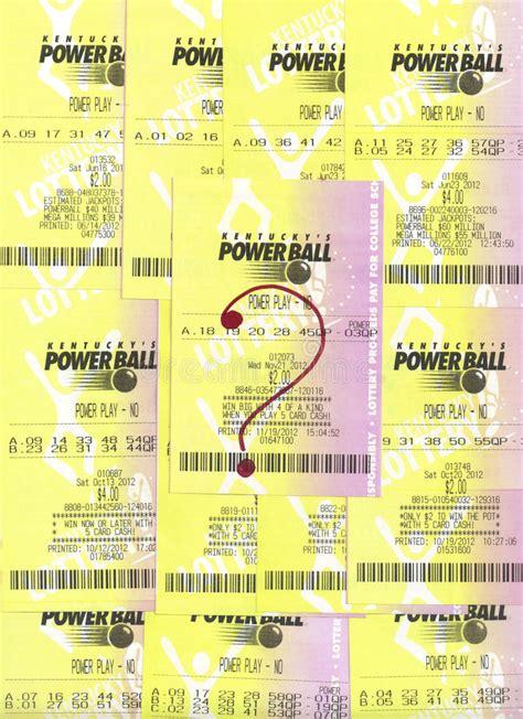 Not Winning PowerBall Lottery Tickets. Editorial Image ...