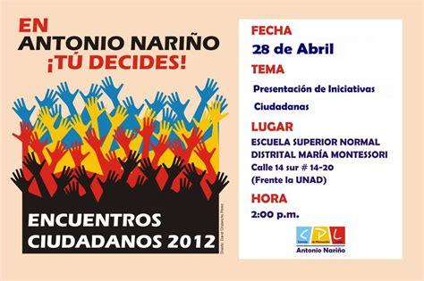 Notas de Acción: Encuentros Ciudadanos Localidad Antonio ...