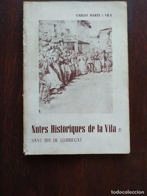 notes històriques de la vila de sant boi de llo   Comprar ...