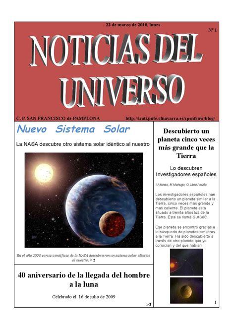 NOTICIAS DEL UNIVERSO by Maria Angeles Azanza   Issuu